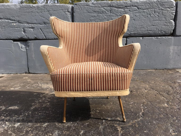 Beautiful Lounge Chairs in the Style of Gio Ponti For Sale 4