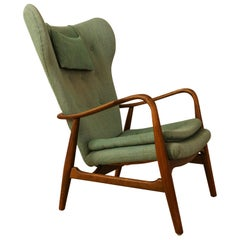 Beautiful Madsen and Schubell Wingback Easy Chair, Denmark 1950s