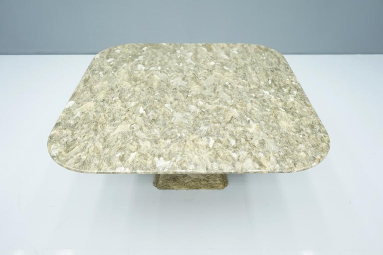 Late 20th Century Beautiful Marble Coffee Table, 1970s For Sale
