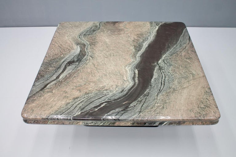 Italian Beautiful Marble Coffee Table, Italy, 1970s For Sale