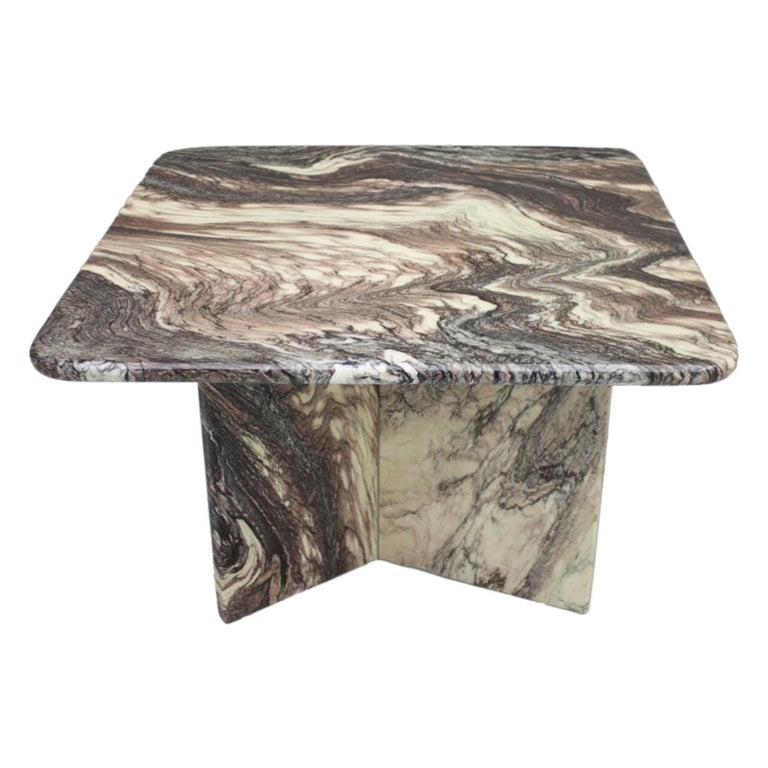 Beautiful Marble Side Table, Italy, 1980s For Sale