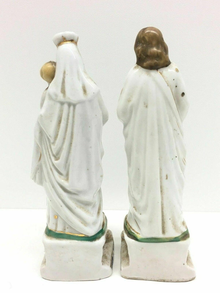 Hand-Crafted Beautiful Mary Joseph Jesus Porcelain Figures Antique, German, 1860s