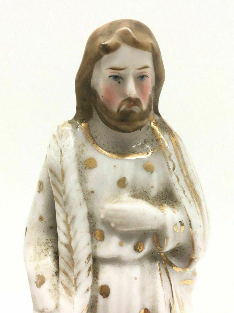 Beautiful Mary Joseph Jesus Porcelain Figures Antique, German, 1860s 2