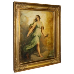 Beautiful Mid-19th Century Italian Oil Painting