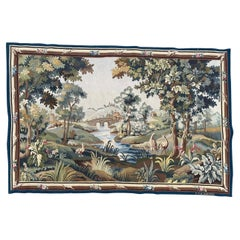 Beautiful Mid Century French Aubusson Tapestry
