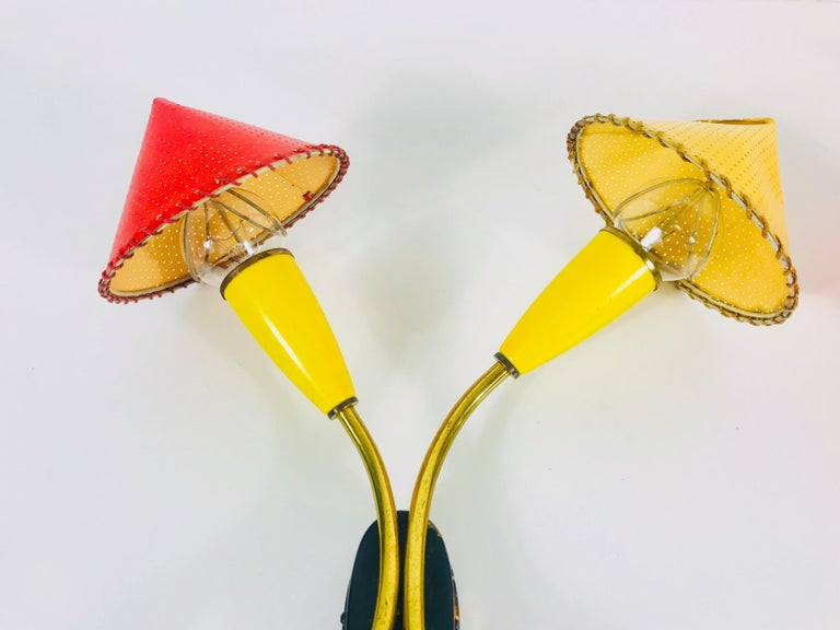 Beautiful Mid-Century Modern Italian Pair of Sputnik Wall Lamps, 1960s, Italy In Good Condition For Sale In Hagenbach, DE