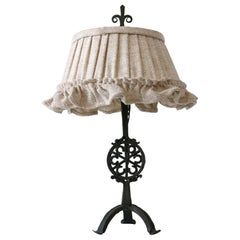 Beautiful Mid-Century Modern Wrought Iron Night Table Lamp, 1960s, Germany