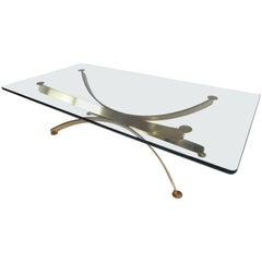 Beautiful Midcentury Roger Sprunger Style Brass Coffee Table