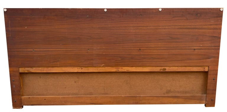 20th Century Beautiful Midcentury Cane Brass Headboard by Paul McCobb for Calvin King For Sale