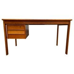 Beautiful Midcentury Danish Modern Teak Desk Sliding Top by Peter Lovig Nielson