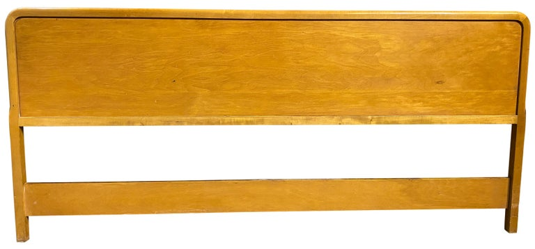 Beautiful Midcentury Robsjohn-Gibbings King Headboard for Widdicomb In Good Condition For Sale In BROOKLYN, NY