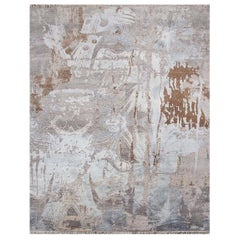 Beautiful Modern Silk and Wool Hand Knotted Rug