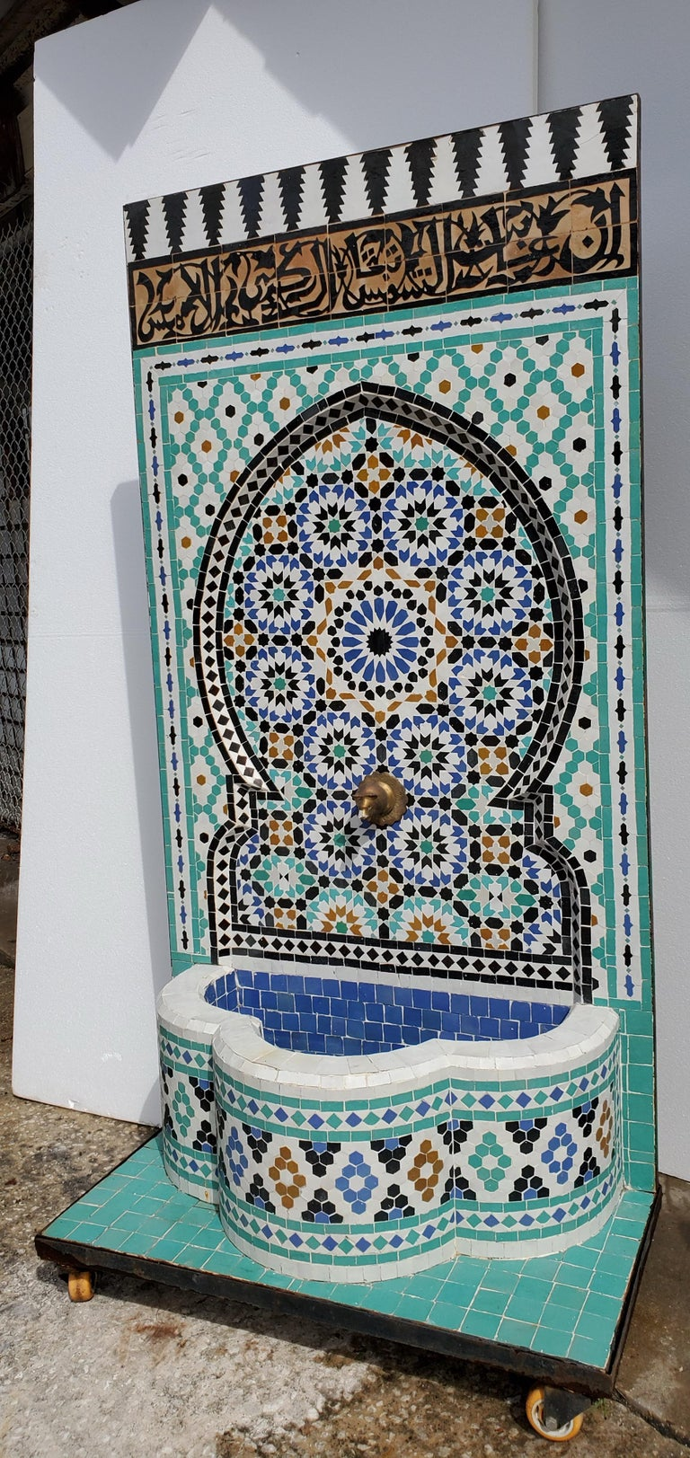 Beautiful Moroccan Moorish Fountain In Excellent Condition For Sale In West Palm Beach, FL