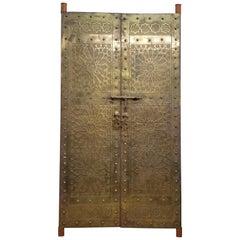 Beautiful Morrocan Vintage Brass Door