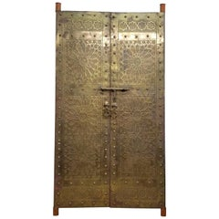 Beautiful Moroccan brass door handmade in Fez.