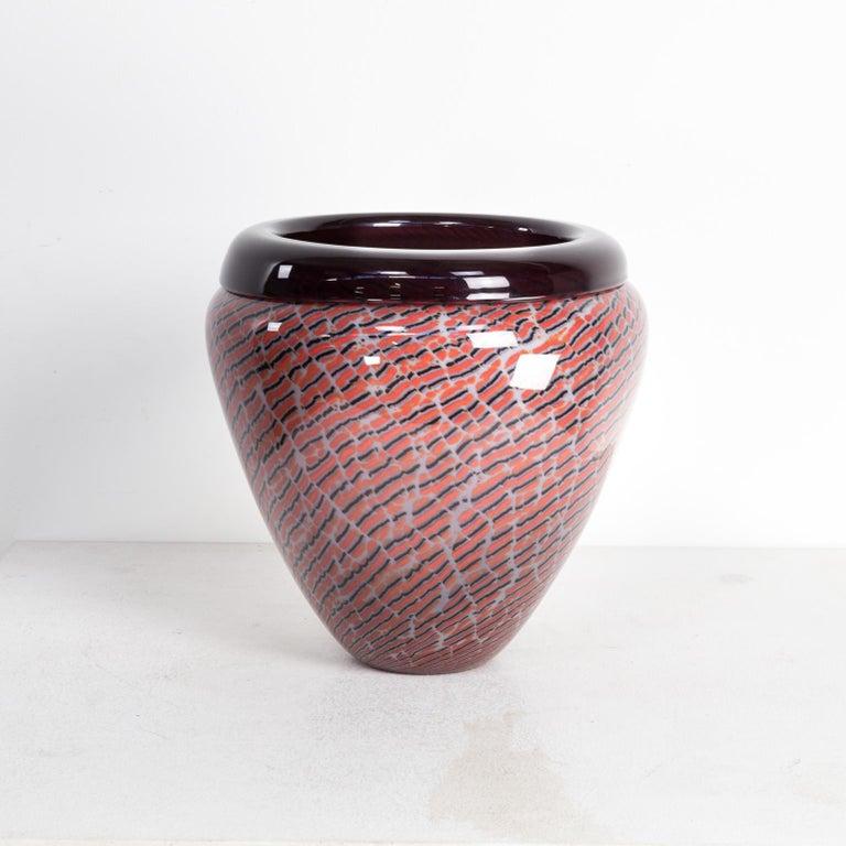 Italian Beautiful Murano Glass Vase for Seguso For Sale