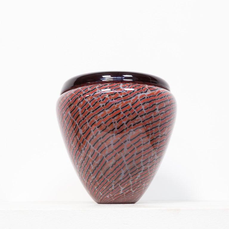 Beautiful Murano Glass Vase for Seguso For Sale 1