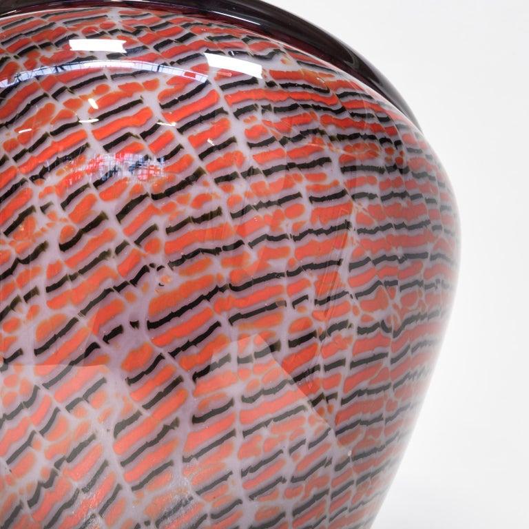 Beautiful Murano Glass Vase for Seguso For Sale 3