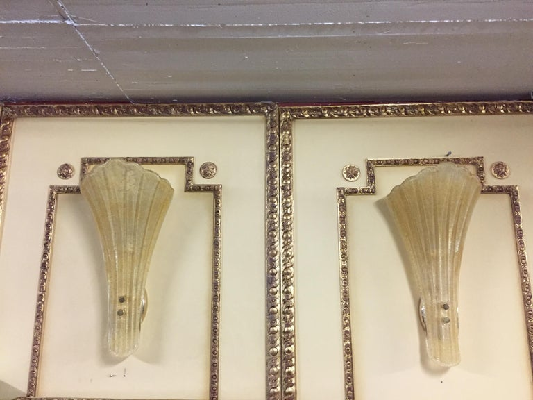 Beautiful Murano Glass Wall Lamp For Sale 3