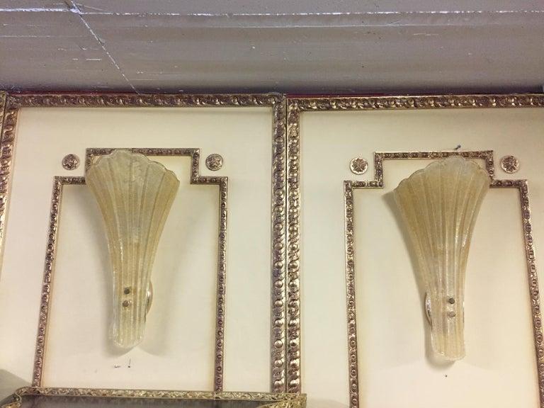 Beautiful Murano Glass Wall Lamp For Sale 4