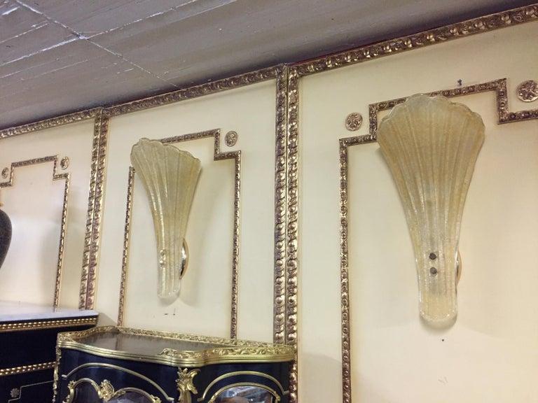 Beautiful Murano Glass Wall Lamp For Sale 5