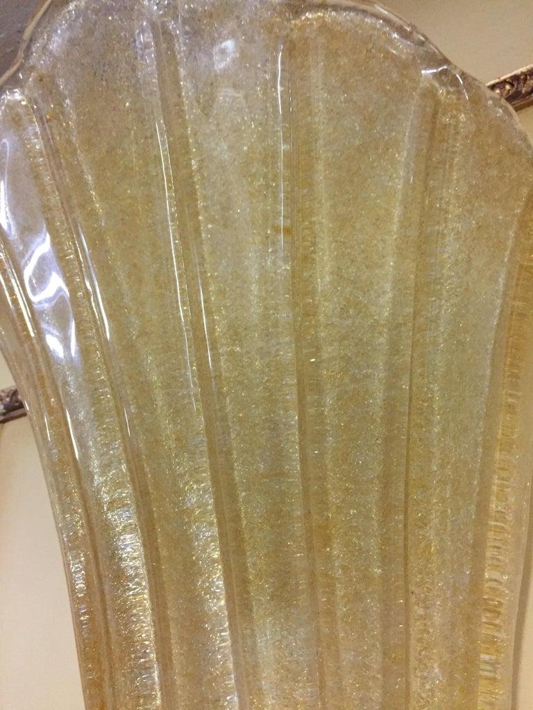 Beautiful Murano Glass Wall Lamp For Sale 7