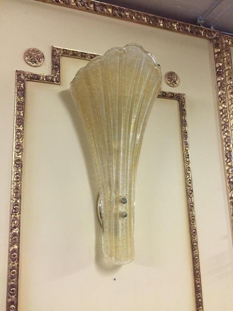 Modern Beautiful Murano Glass Wall Lamp For Sale