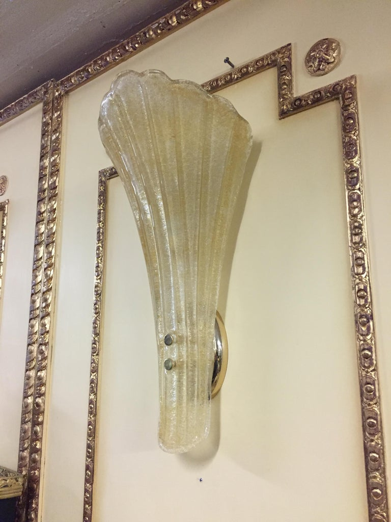Italian Beautiful Murano Glass Wall Lamp For Sale