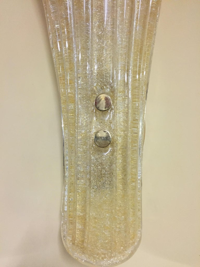 Glazed Beautiful Murano Glass Wall Lamp For Sale