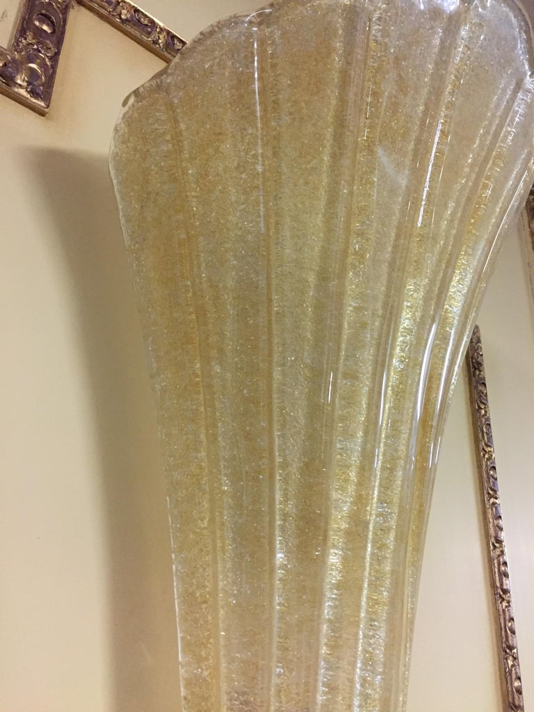Beautiful Murano Glass Wall Lamp In Good Condition For Sale In Berlin, DE