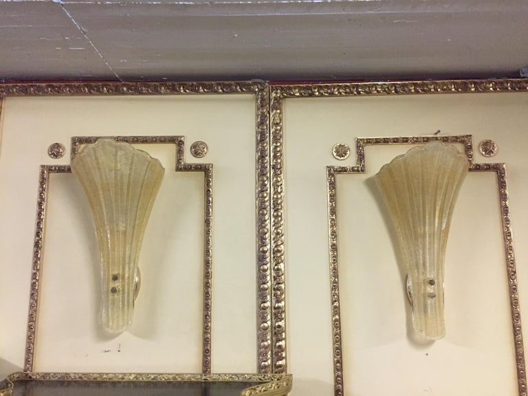 Beautiful Murano Glass Wall Lamp For Sale 2