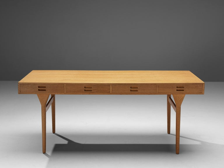 Danish Beautiful Nanna Ditzel Desk in Oak For Sale
