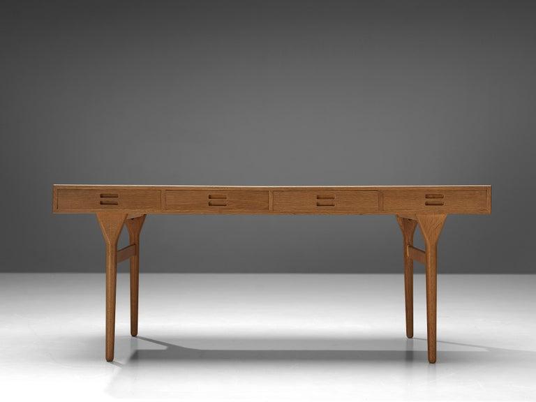Brass Beautiful Nanna Ditzel Desk in Oak For Sale