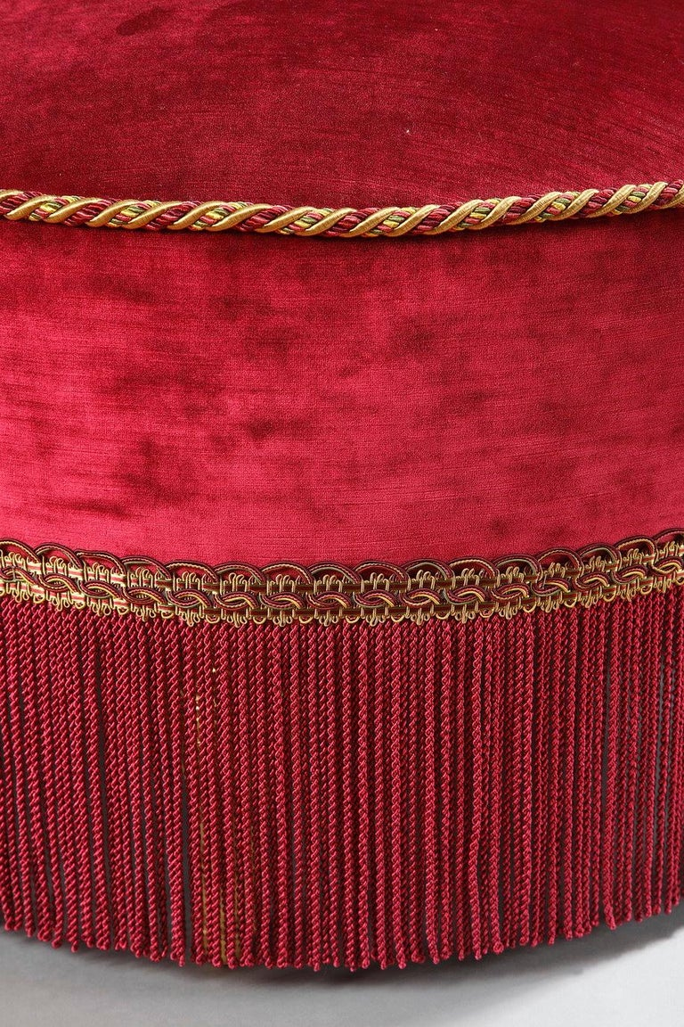 Beautiful Napoléon III Period Circular Couch In Good Condition For Sale In PARIS, FR