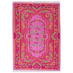 Beautiful New Floral Design Bessarabian Style Flat Kilim Rug
