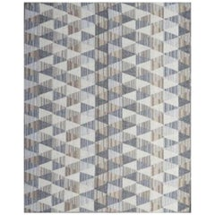 Beautiful New Handwoven European Design Flat Kilim Rug size 6ft 6in x 9ft 10in