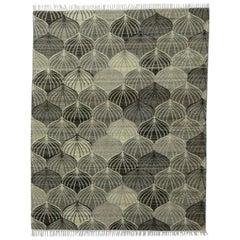 Beautiful New Handwoven European Design Flat Kilim Rug