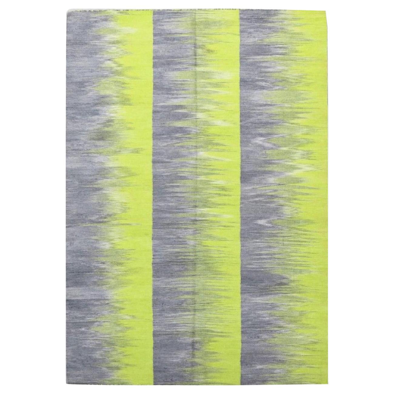 Beautiful New Modern Design Handwoven Kilim Rug