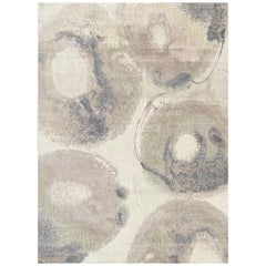 Beautiful New Modern Hand Knotted, Abstract Design Rug