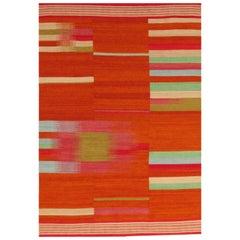 Beautiful New Tribal Design Handwoven Kilim Rug