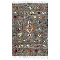 Beautiful New Tribal Moroccan Design Handwoven Kilim Rug