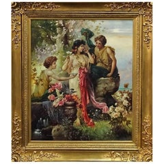 "Beautiful Oil on Canvas ""the Offering"" by Hans Zatzka"