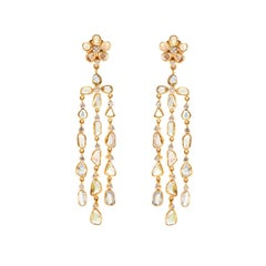 Diamond Chandelier 5.44 Karat 18 Karat Gold Earrings