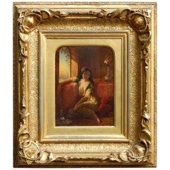 Beautiful Orientalist Painting by British Born Artist Henry Stanier, 1859