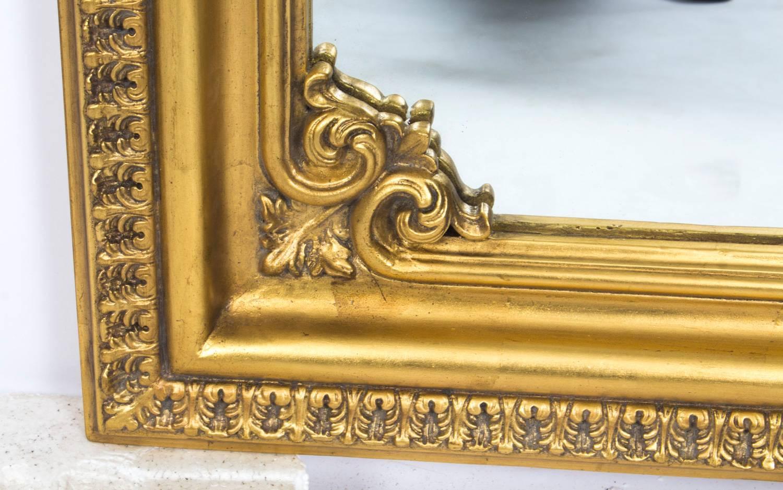 Beautiful Ornate Italian Gilded Decorative Mirror For Sale at 1stdibs