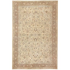 Beautiful Oversized Antique Brown Khorassan Rug. Size: 15 ft 4 in x 23 ft 8 in