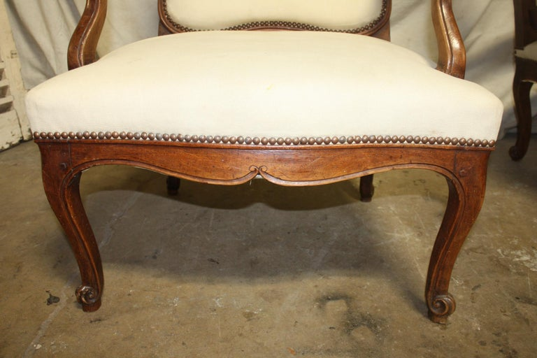 Beautiful Pair of 18th Century French Armchairs For Sale 5