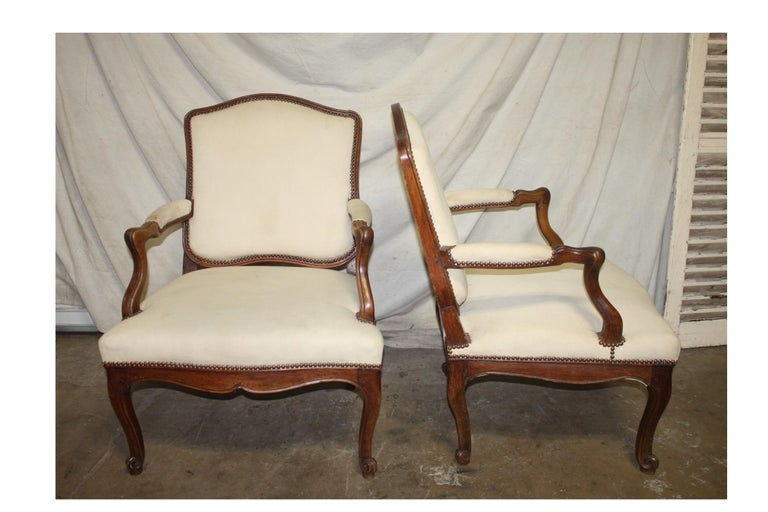 Beautiful pair of 18th century French armchairs.