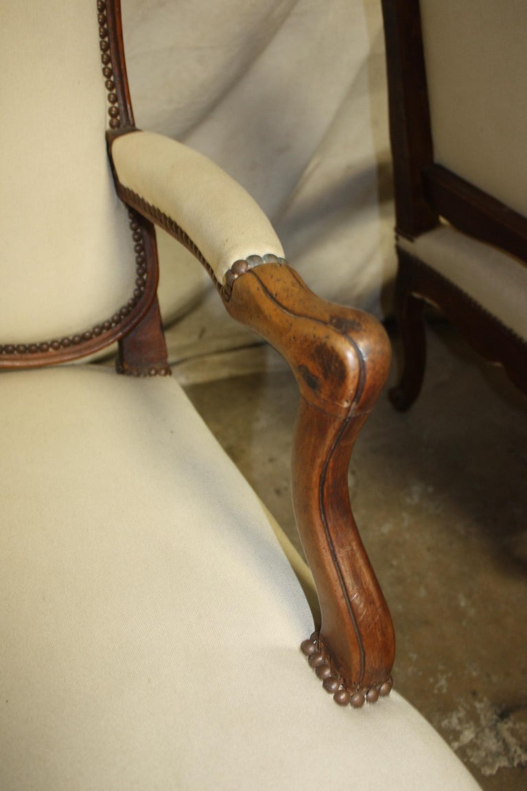 Beautiful Pair of 18th Century French Armchairs For Sale 1