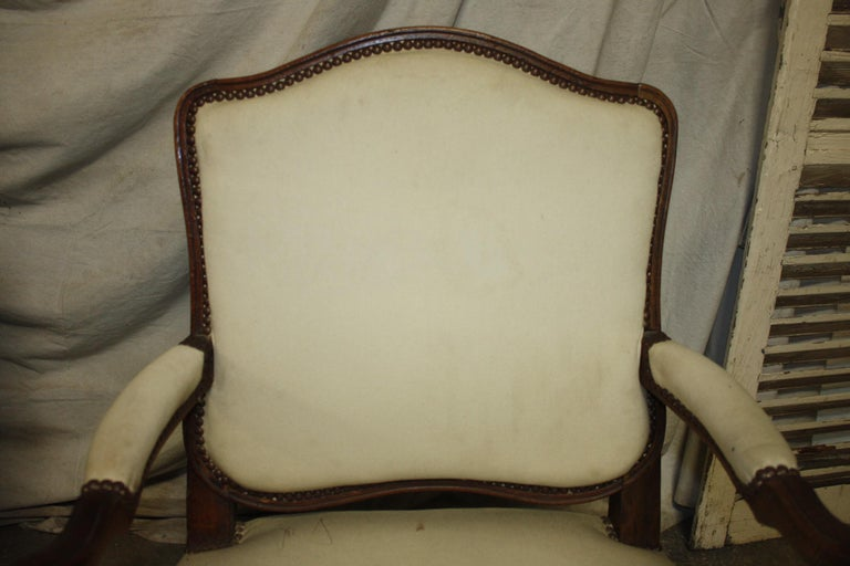 Beautiful Pair of 18th Century French Armchairs For Sale 3